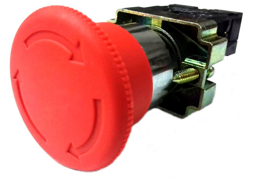 Botão Emergência Gira Destrava bloco NF LAY5-BS54 Metálico 22,5mm  JNG