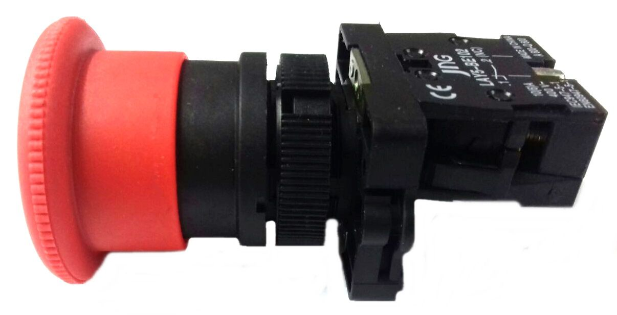 Botão Emergência Gira Destrava bloco NF LAY5-ES54 Plástico 22,5mm JNG