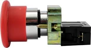 Botão Emergência Sem Retenção bloco NA LAY5-BC41 Metálico 22,5mm JNG