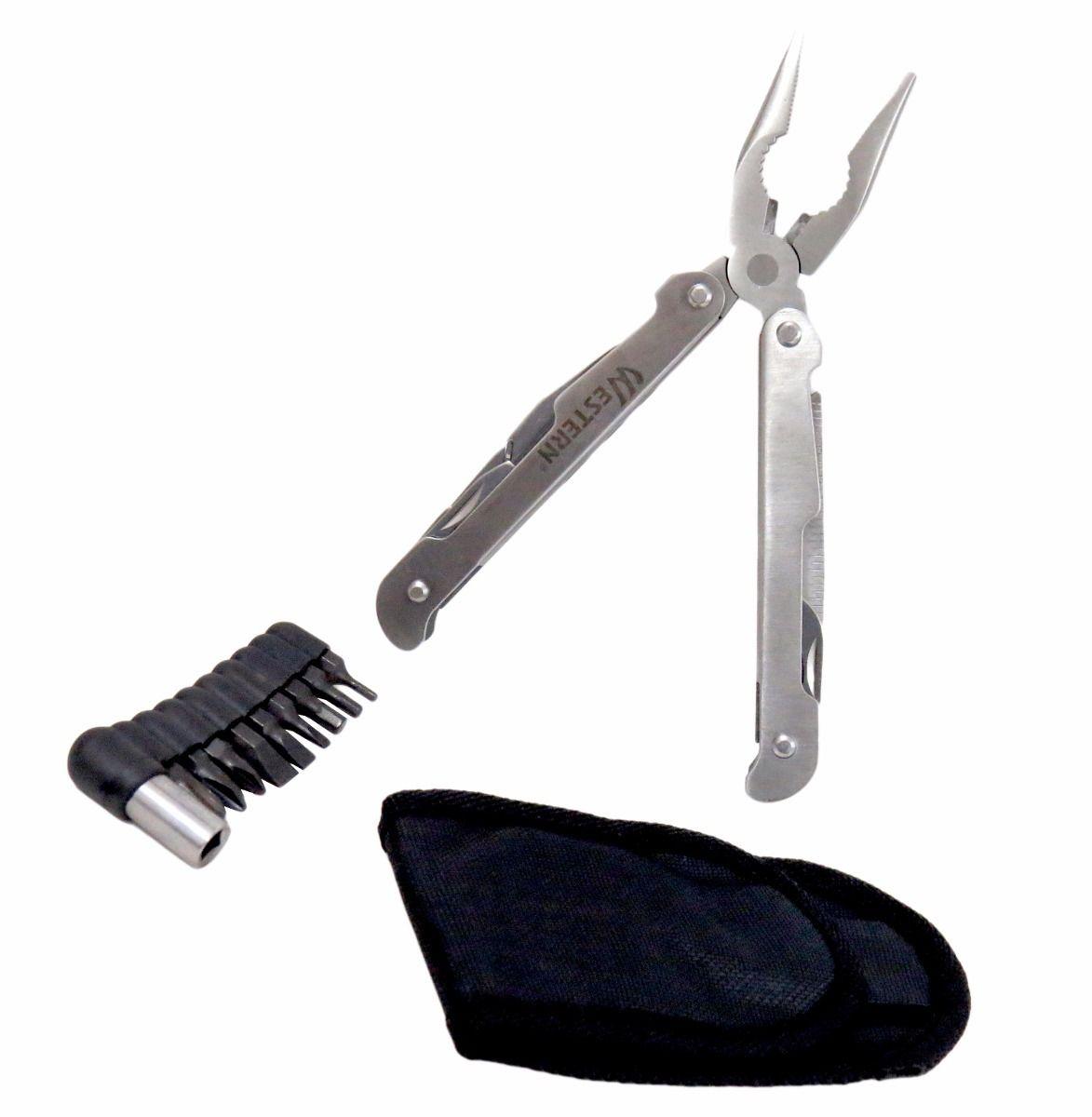 Canivete tipo Alicate 12 funções linha profissional acompanha bainha Western