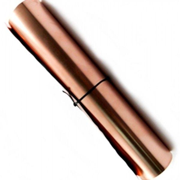 Chapa de Cobre 1000 x 300 x 0,15mm