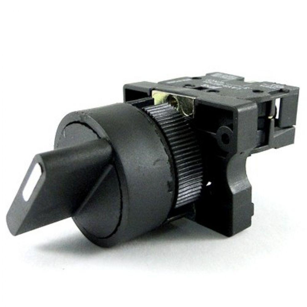 Chave comutadora 22,5 mm - 2 posições fixas contato NA - LAY5-ED21 JNG