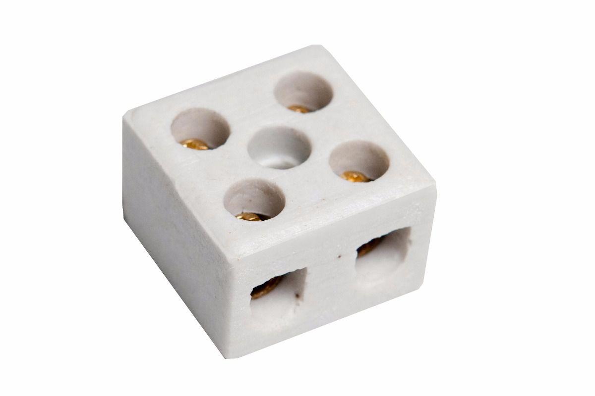 Conector Porcelana 2 Polos 16mm
