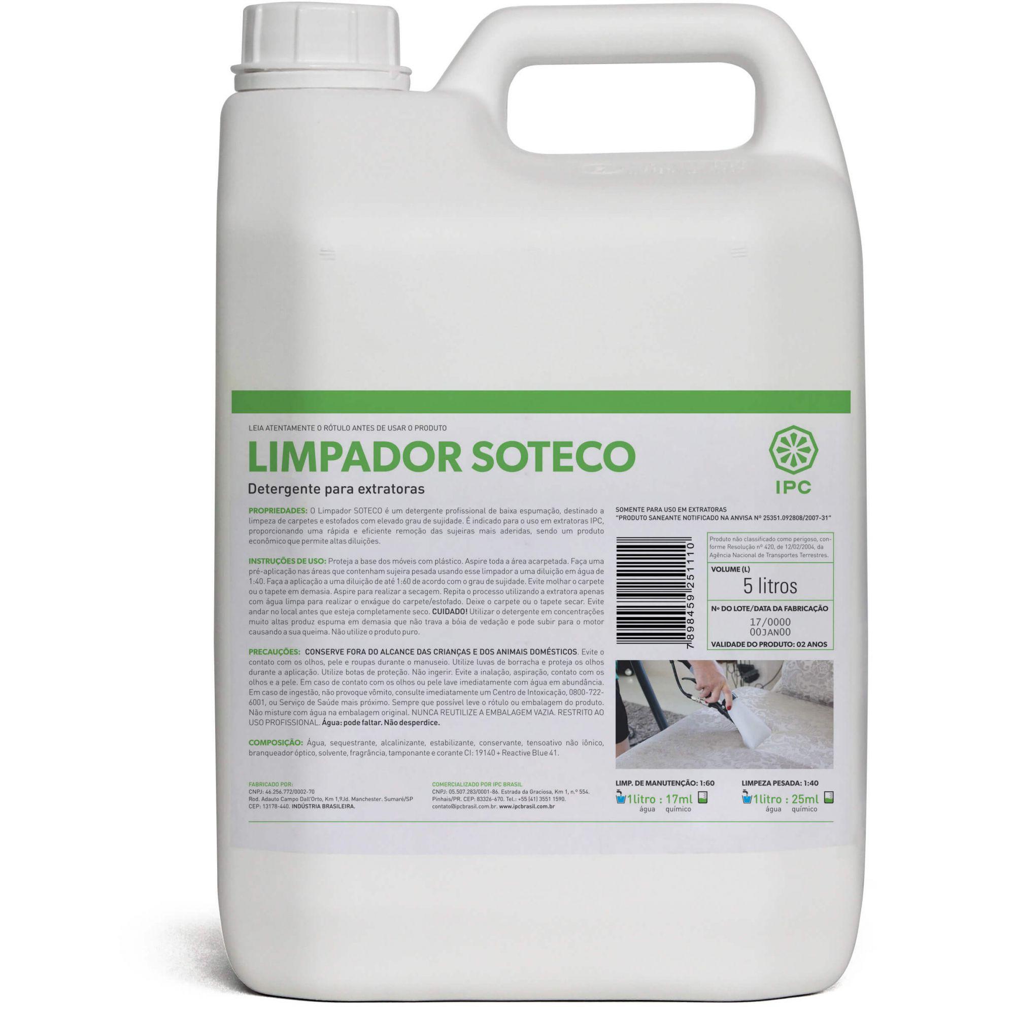 Detergente Limpador para Extratora Soteco 5 Litros