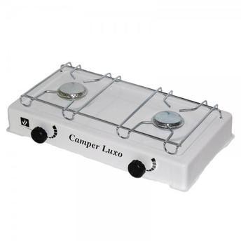 Fogão Camper Luxo Fogareiro portátil 2 bocas a gás Várias Cores