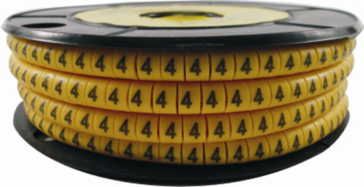 Identificador de Cabos Numérico EC1 2,6 a 4,2 mm² de 0 a 9 - rolo com 1.000 unidades