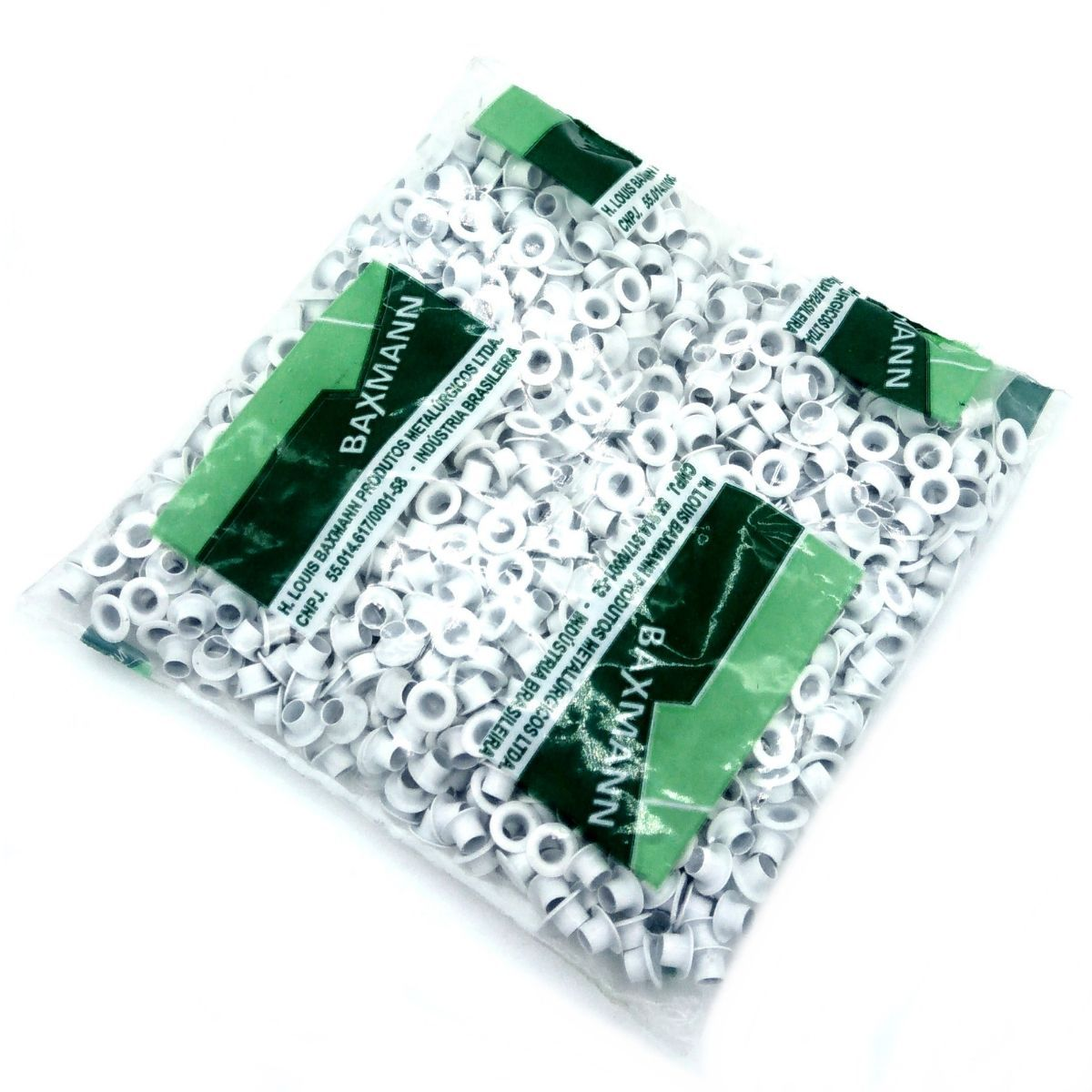 Ilhós Alumínio Branco Nº 54 8mm de diâmetro externo