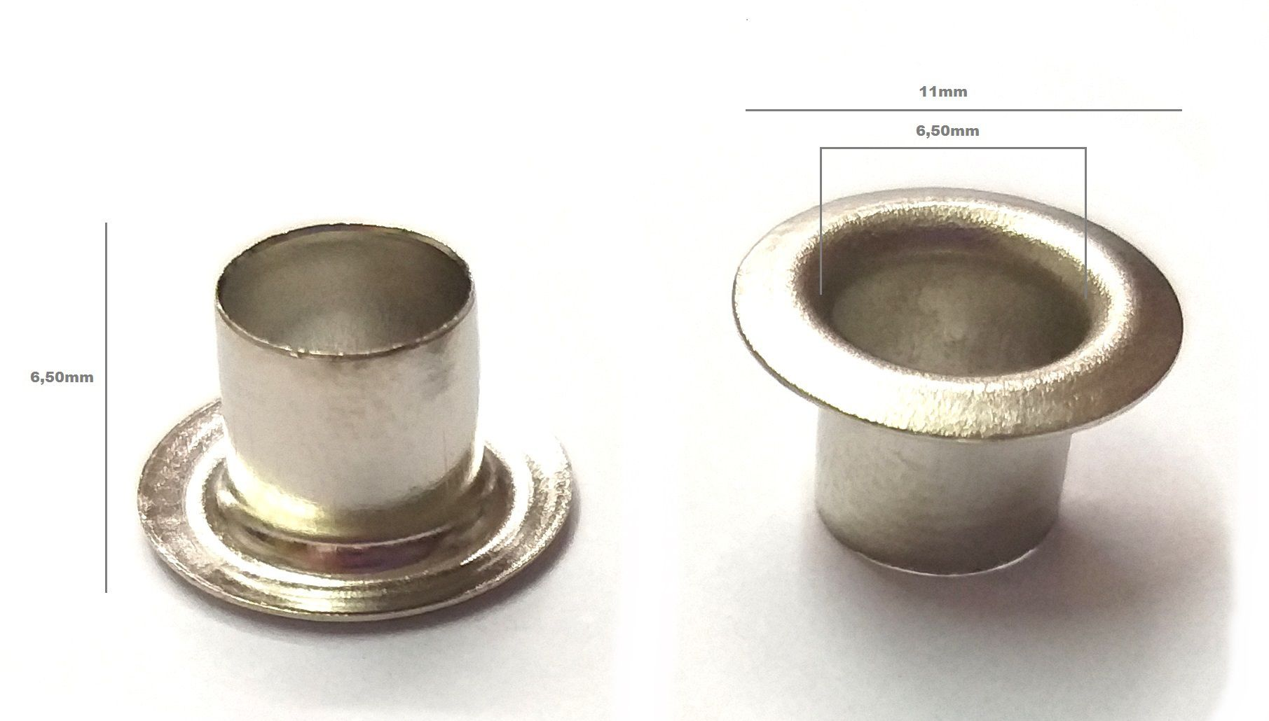 Ilhós Alumínio Nº 50 - 11mm de diâmetro externo