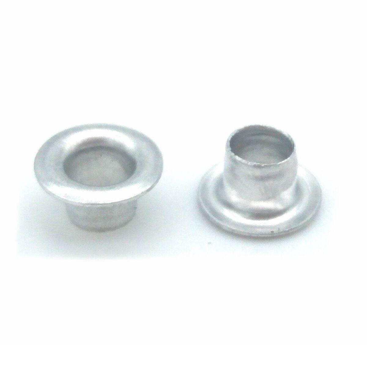 Ilhós Alumínio Prata Nº 54 8mm de diâmetro externo