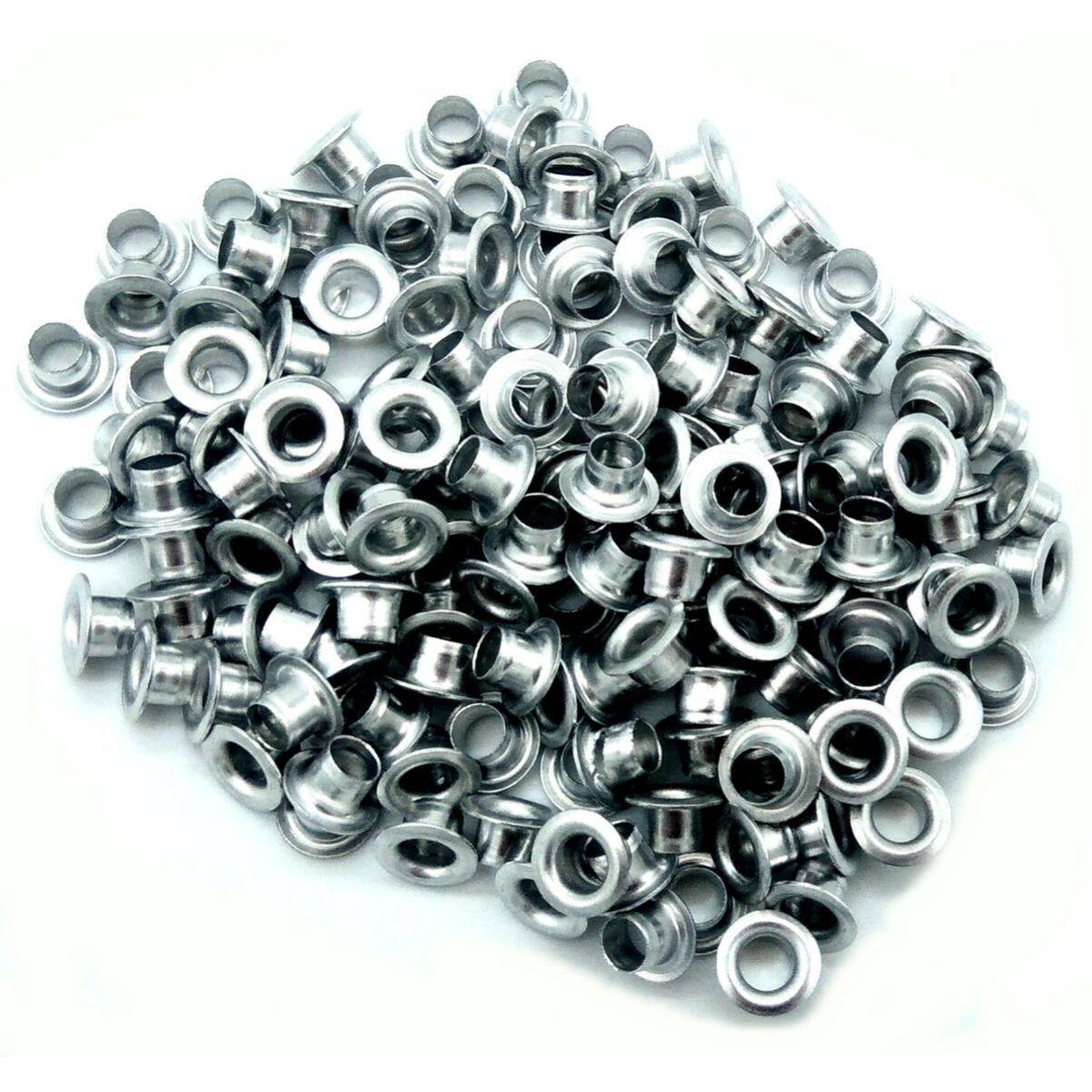 Ilhós Nº 54 Alumínio 8mm Externo Niquelado