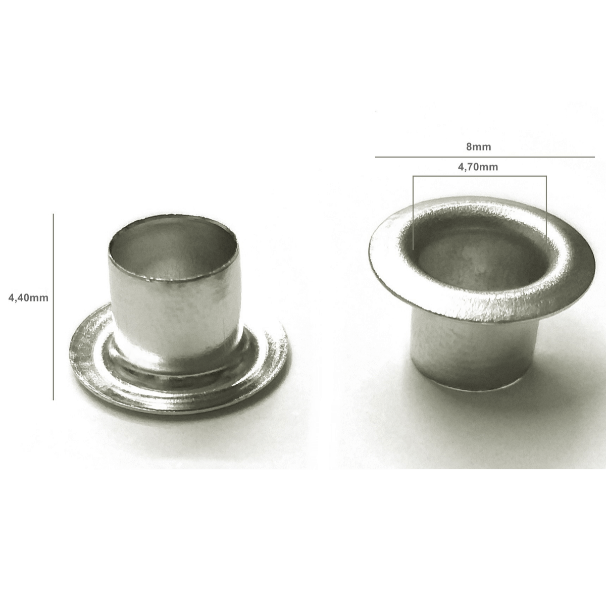 Ilhós Alumínio Rosa Nº 54 8mm de diâmetro externo