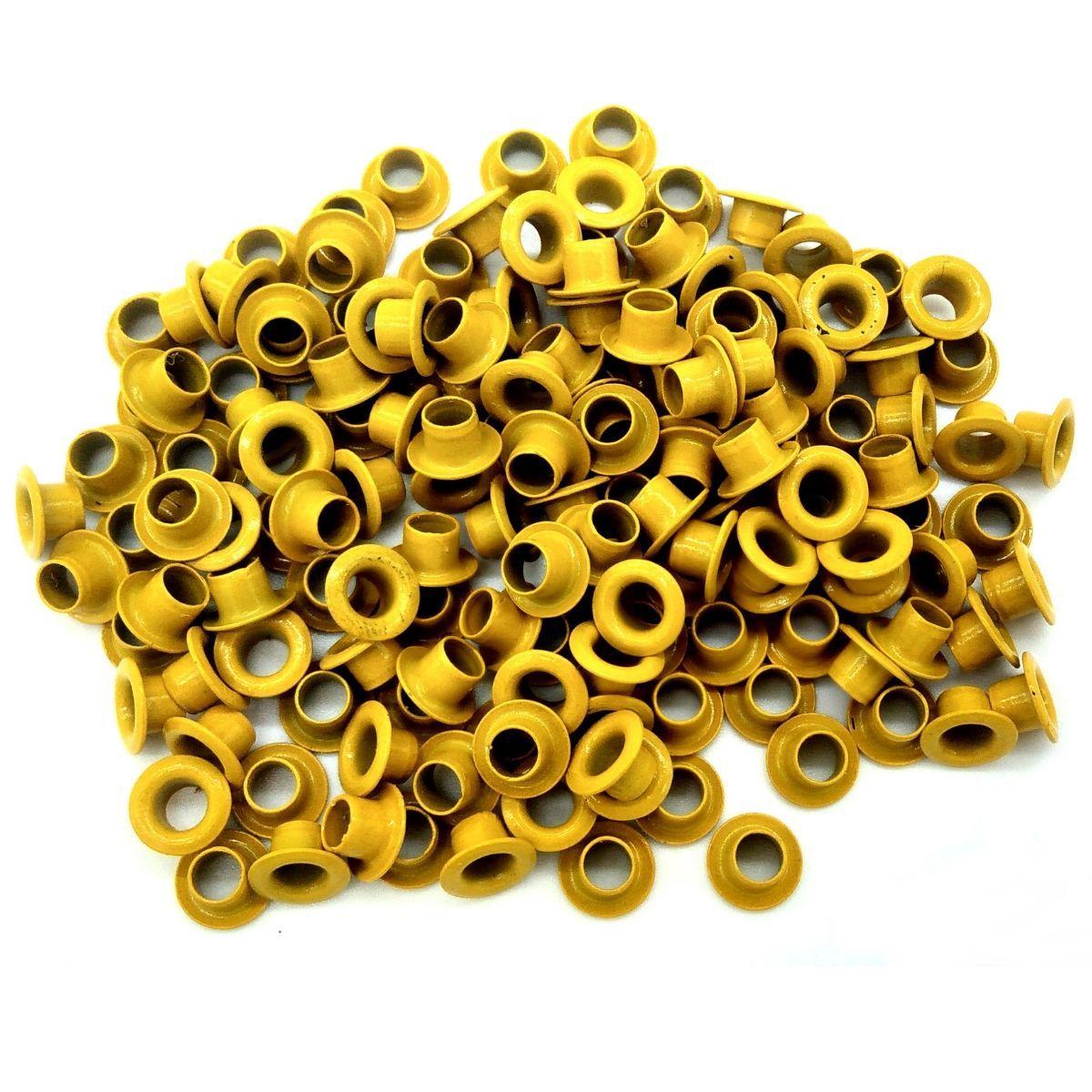 Ilhós Alumínio Amarelo Nº 54 8mm de diâmetro externo