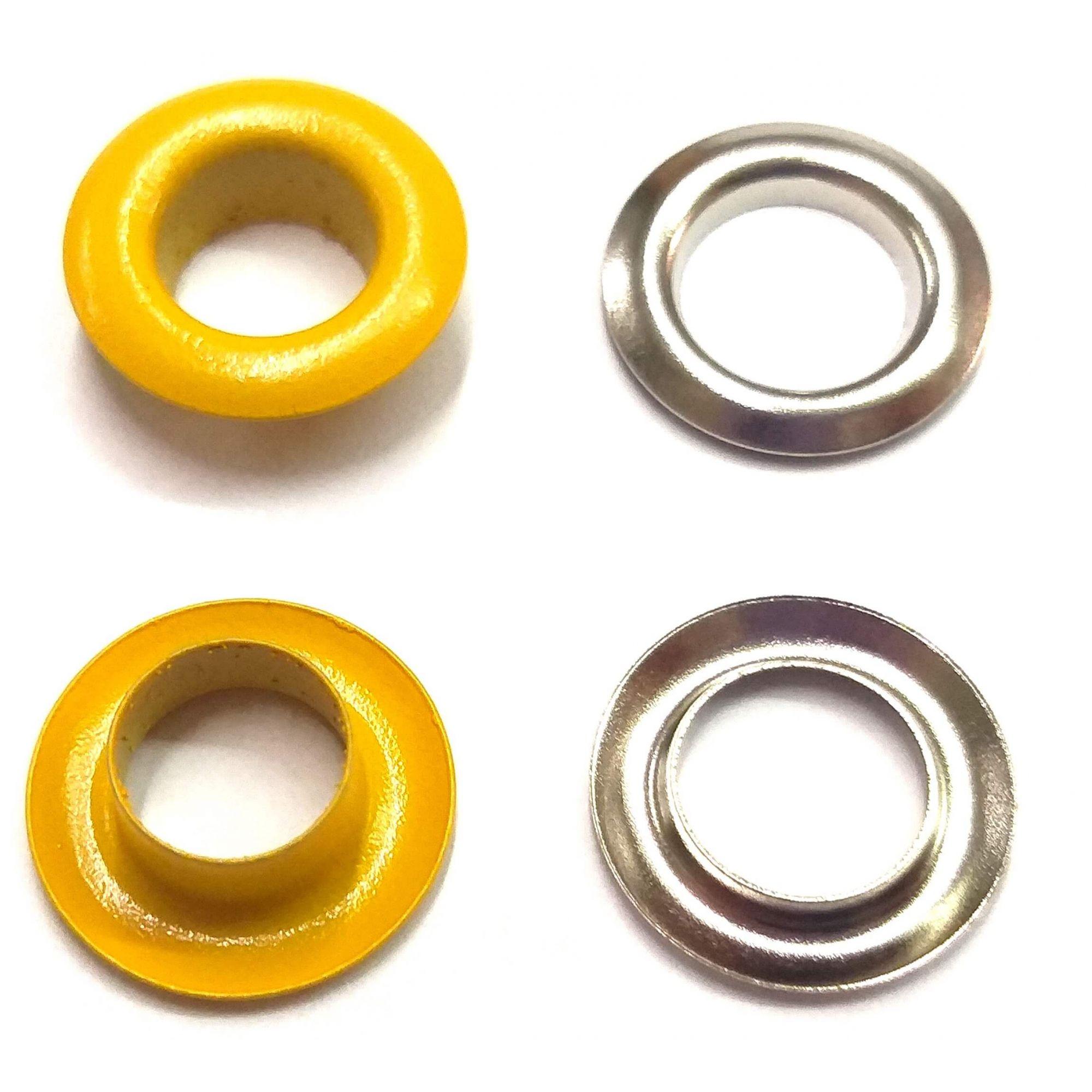 Ilhós com Arruela Ferro Nº 45 - 15mm de diâmetro externo - Diversas Cores