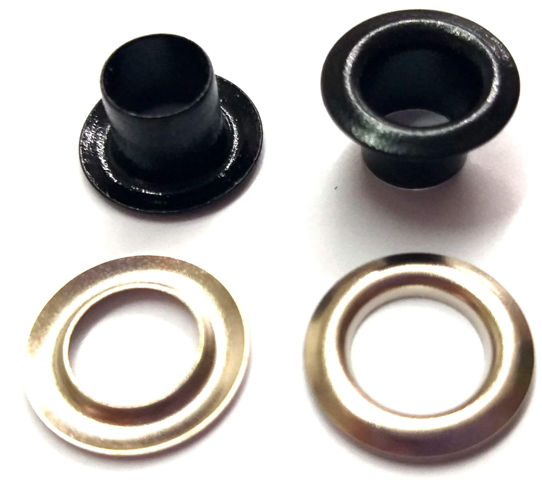Ilhós com Arruela Ferro Nº 50 - 11mm de diâmetro externo - Diversas Cores