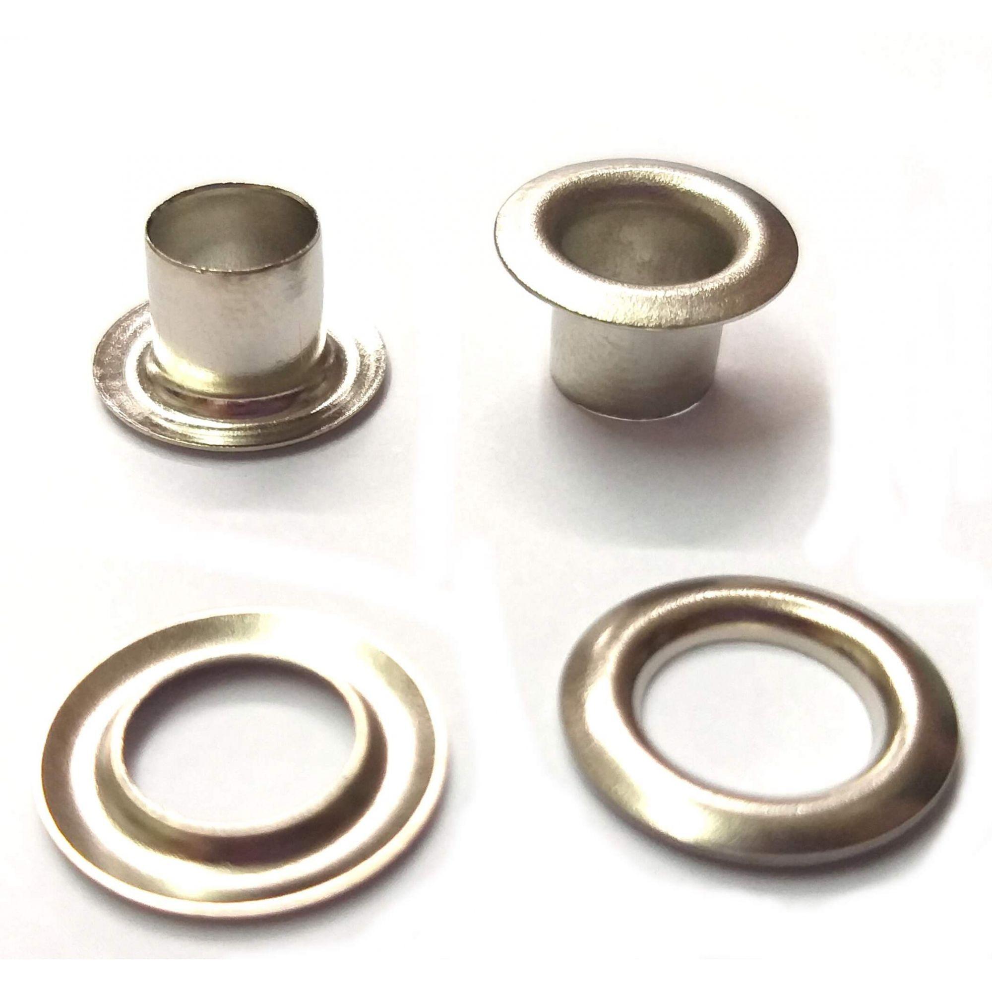 Ilhós com Arruela Ferro Nº 51 - 9,50mm de diâmetro externo - Diversas Cores