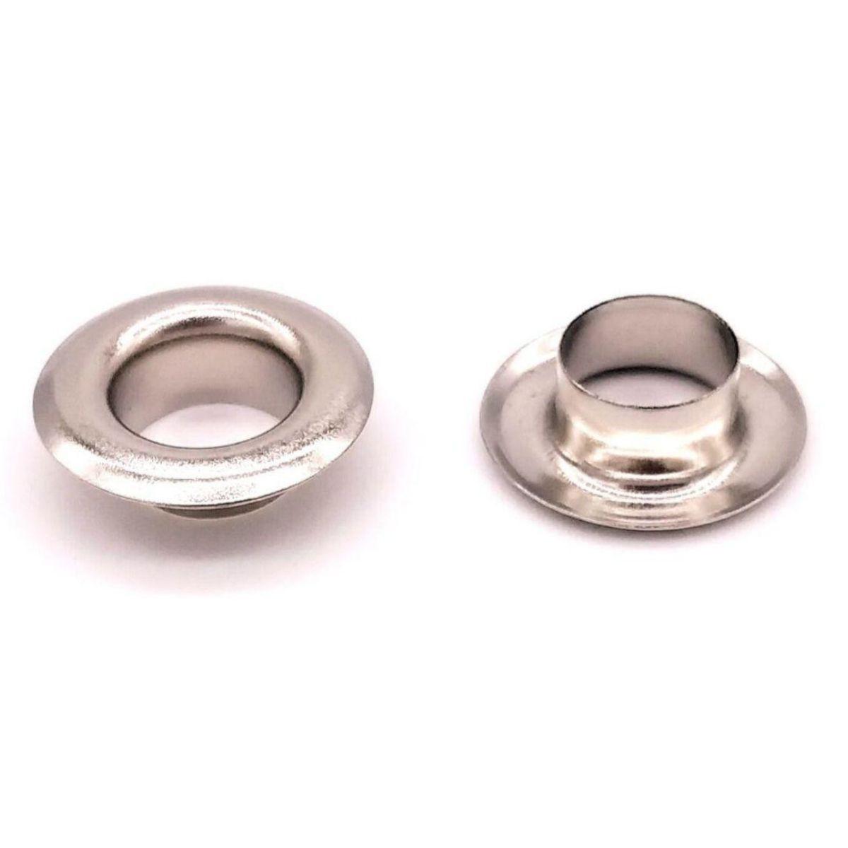 Ilhós Nº 45 Alumínio Niquelado