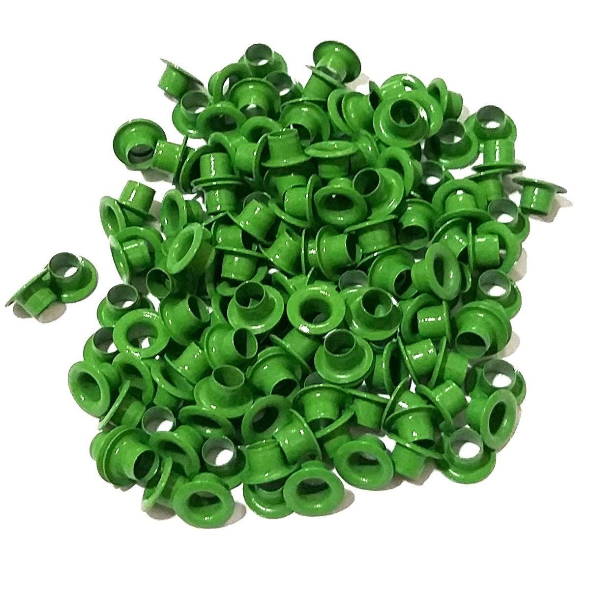 Ilhós Nº 54 Alumínio 8mm Externo - Verde Claro