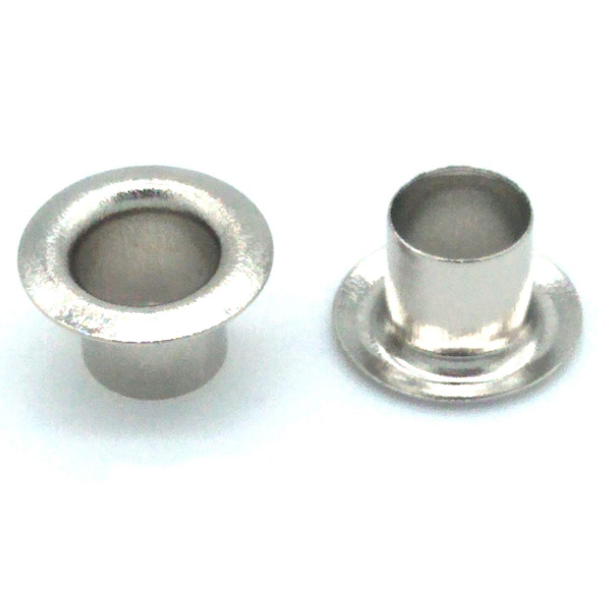 Ilhós Alumínio Prata Nº 50 11mm de diâmetro externo