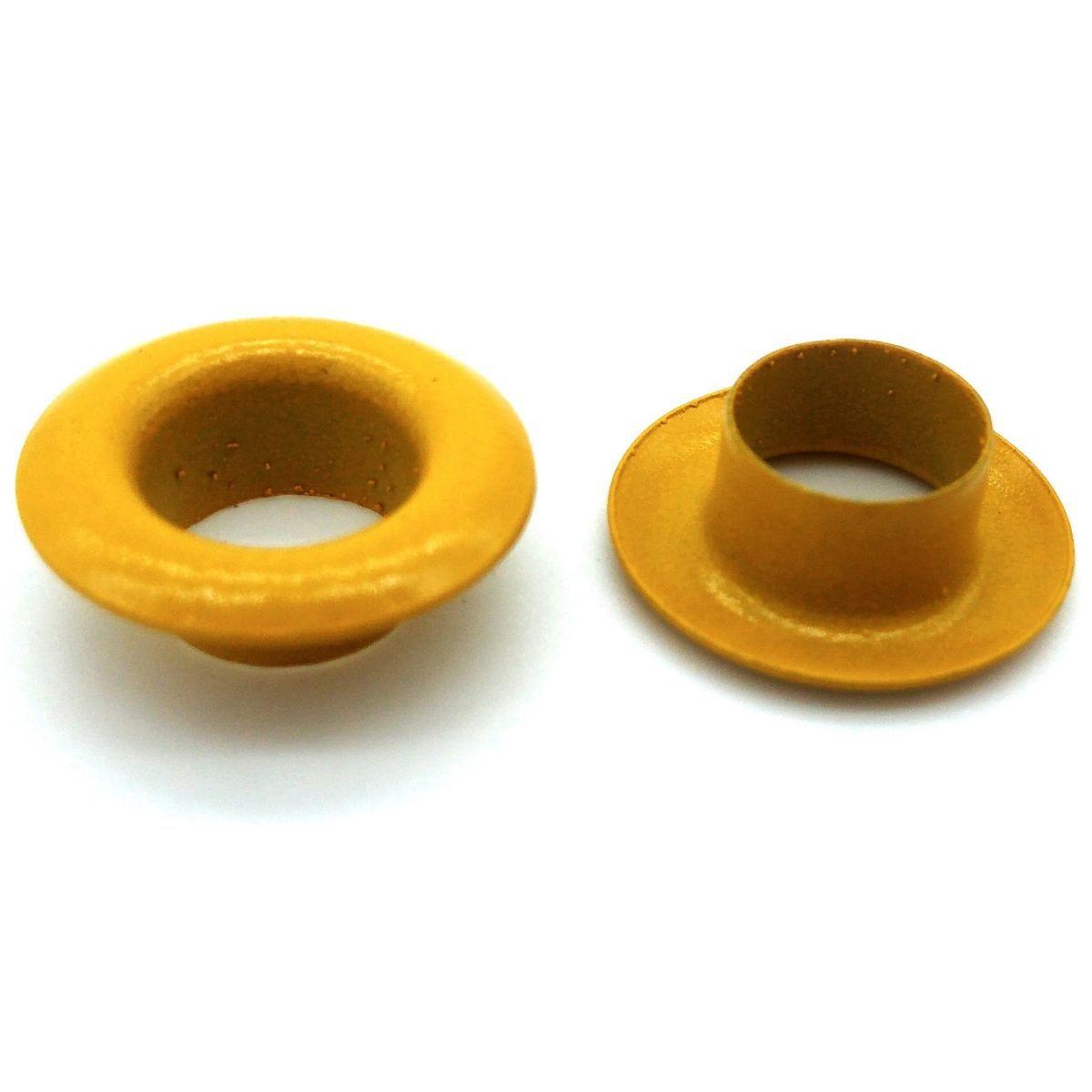 Ilhós Ferro Amarelo Nº 45 15mm de diâmetro externo