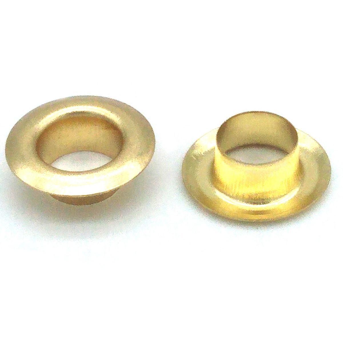 Ilhós Ferro Dourado Nº 45 15mm de diâmetro externo