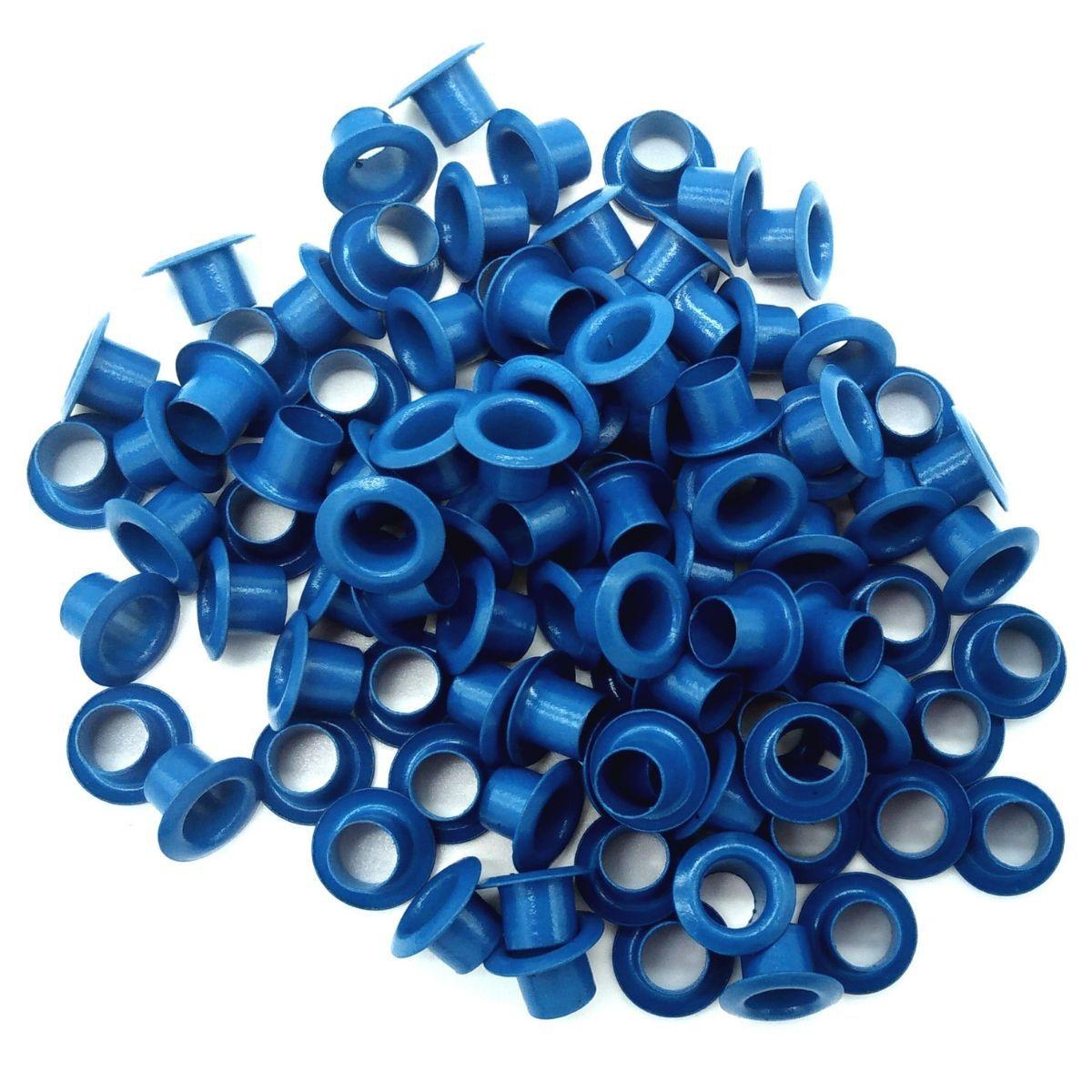 Ilhós sem Arruela Ferro Azul Nº 50 11mm de diâmetro externo