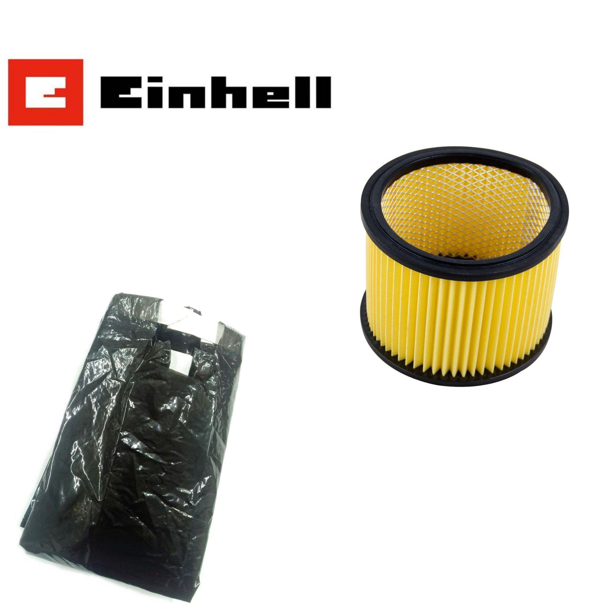 Kit Aspirador Einhell BT-VC 1450 - Filtro Sanfonado + Saco coletor de Plastico
