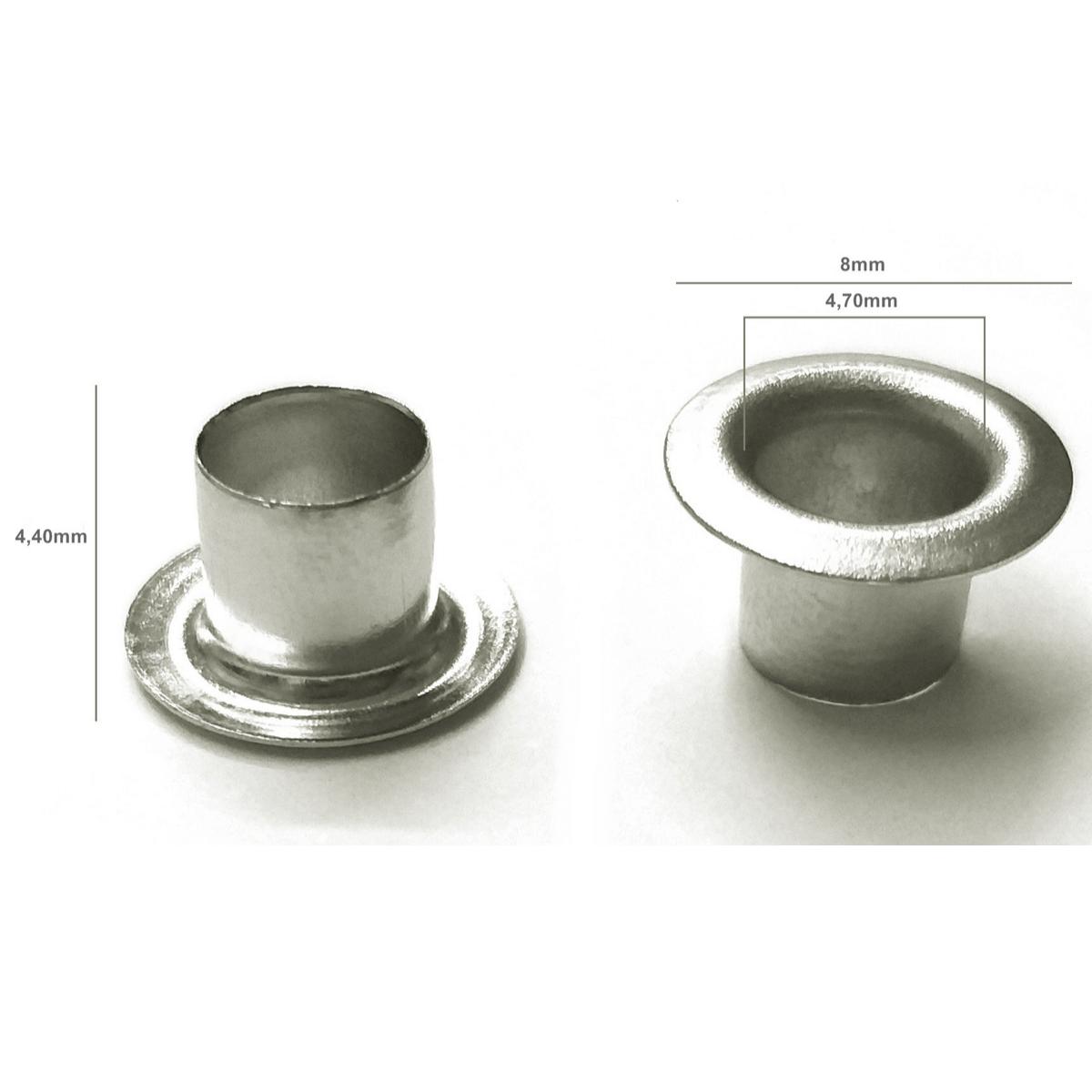 Kit Ilhós Alumínio Colorido Nº 54 8mm de diâmetro externo