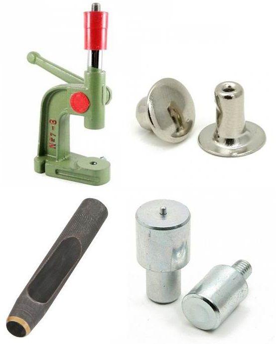 Kit Rebite 1 - Tamanho diversos (Balancim 7-G, Matriz, Vazador e Rebite)