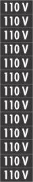 Placa PVC 110V 1 cartela com 13 partes destacáveis