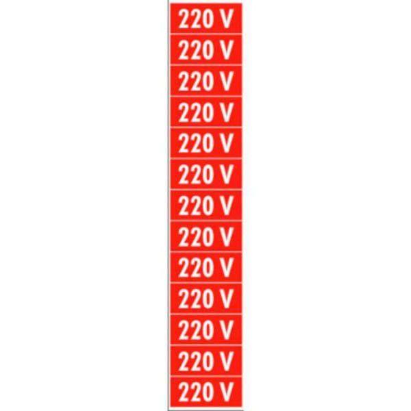 Placa PVC 220V 1 cartela com 13 partes destacáveis