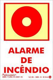 Placa PVC Alarme Incêndio Fotolito 100 x 150 x 0,80mm
