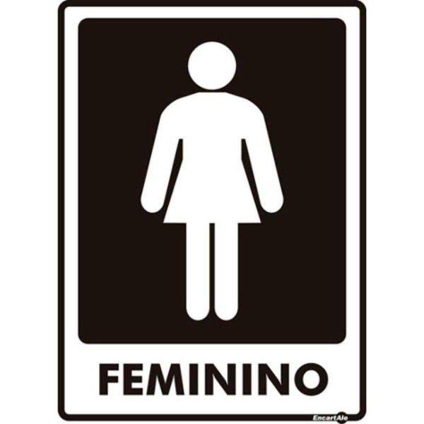Placa PVC Banheiro Feminino 15 x 20 x 0,80mm