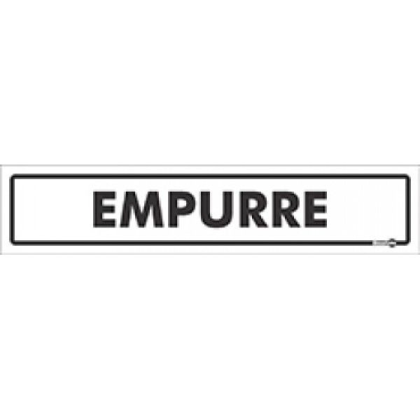 Placa PVC Empurre 300 x 65 x 0,80mm