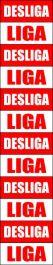 Placa PVC Liga / Desliga 1 cartela com 12 partes destacáveis