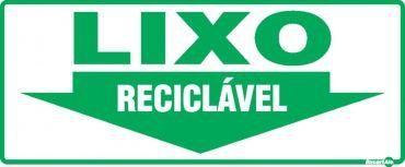Placa PVC Lixo Reciclável 130 x 300 x 0,80mm