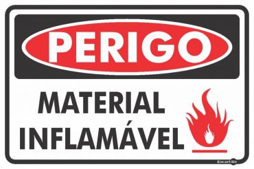 Placa PVC Material Inflamável 300 x 200 x 0,80mm