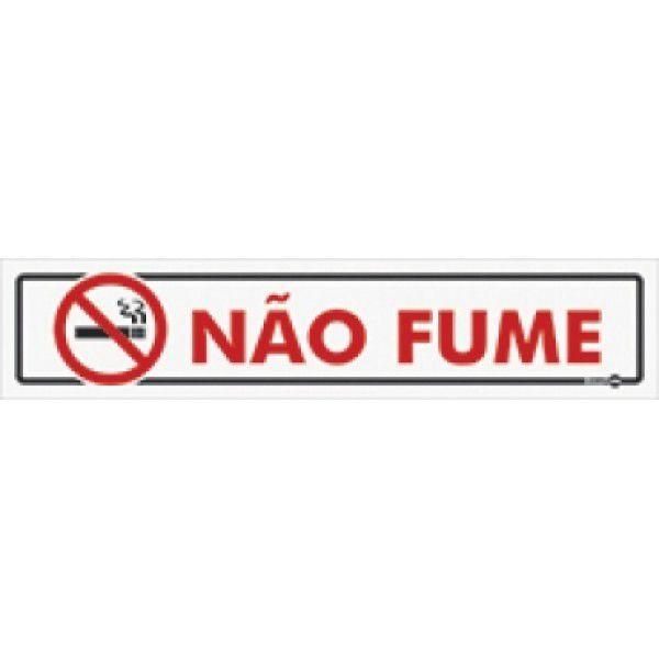 Placa PVC Não Fume 300 x 65 x 0,80mm
