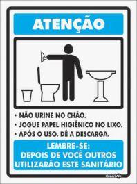 Placa PVC Não Urine no Chão 200 x 150 x 0,8mm