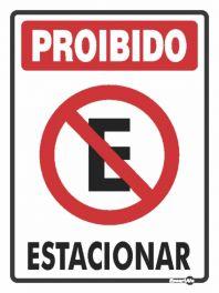 Placa PVC Proibido Estacionar 200 x 300 x 0,80mm