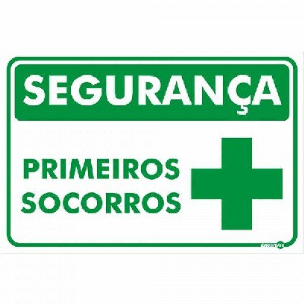 Placa PVC Segurança Primeiros Socorros 200 x 150 x 0,80mm