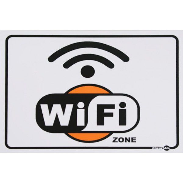 Placa PVC Wi-Fi 20 x 15 x 0,80mm