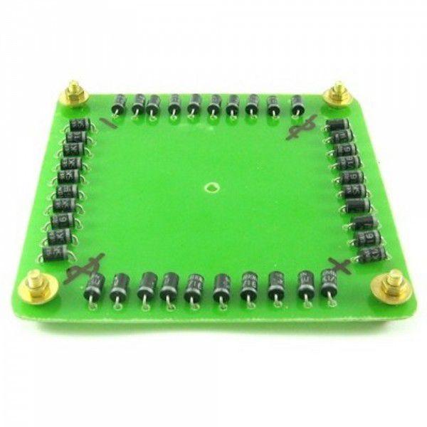 Ponte Retificadora Monofásica com diodos 1/12 - 1/16 ou 3/16