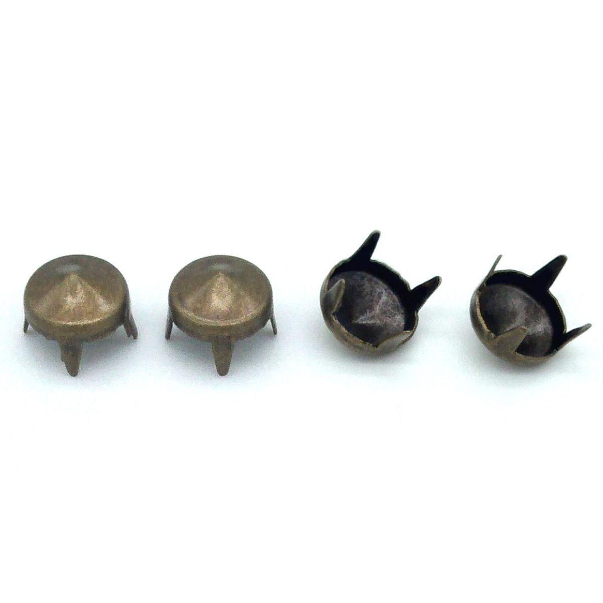 Tacha Para Confecção Cone Ouro Velho Baxmann Cx C/ 200 Pçs