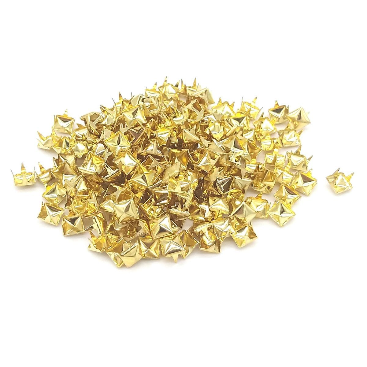 Tacha para Confecção Pirâmide Dourado Baxmann Cx C/ 200 Pçs
