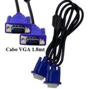 Cabo VGA 1.8 Metros com filtro macho-DB15