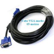 Cabo VGA-macho 05-metros para monitor e projetor com filtro