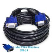 Cabo VGA-macho para monitor e projetor 10-metros com filtro