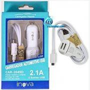 Carregador de celular automotivo micro-USB V8 Samsung, Motorola e Tablets CAR-2049D