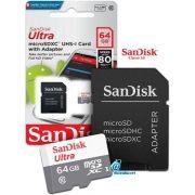 Cartão de Memória 64GB SanDisk Ultra® microSDHC™ CL10 UHS-I