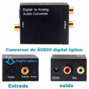 Conversor de ÁUDIO digital óptico para analógico RCA